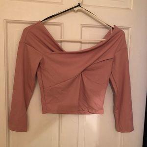 Blush Pink Crop Top